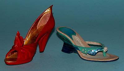 """Just the Right Shoe, Raine, """"2001 Club"""" 2 pc, boxed set, NIB, Fire & Water"""