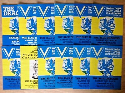Cardiff City Rugby League Programmes 1981 - 1983