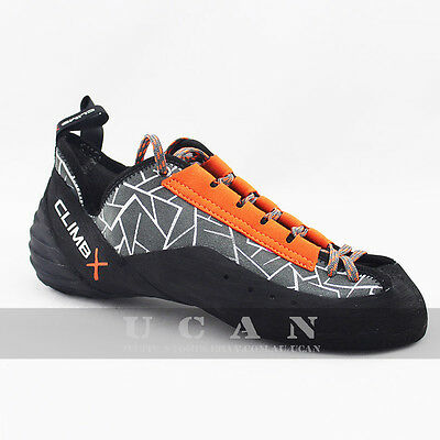 Climbing Shoes Gym Bouldering Crack Sport Leather Lace-up ClimbX Rock Master