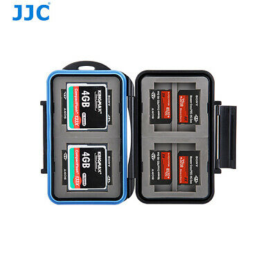 JJC Water-resistant Holder Storage Memory Card Case For 4CF 8MS Pro DUO Cards