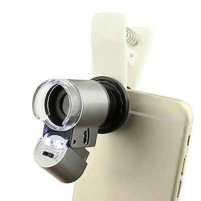 Universal 65X Optical Zoom Mobile Phone Camera Microscope Magnifier Micro Lens