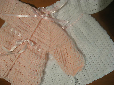 Baby Jacket Bonnet Bootees Layette Vintage Style Australian Handcrafts Style
