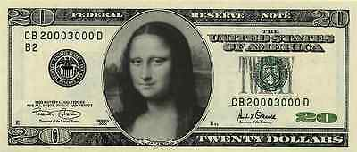 Personalized $20 novelty bill money custom customized with your photo funny