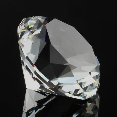 Crystal White Clear Paperweight Cut Glass Giant Diamond 40mm Jewel Decor Crafts