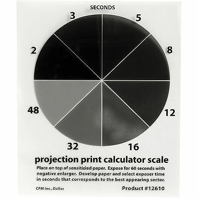 """Delta 1 Projection Print Calculator Scale 4x5"""" perfect exposures every time"""