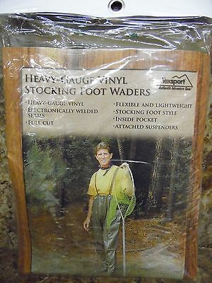 SIZE XL TEXSPORT HEAVY-GAUGE VINYL CHEST WADERS ITEM 29504 NEW IN PACKAGE