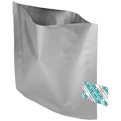 "20 Pack Of Mylar 8x8"" Bags & 20 Pack Of Oxygen Absorbers"