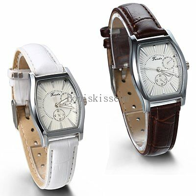 Leather Band Quartz Analog Elegant Classic Casual Ladies Girls Wrist Watch New