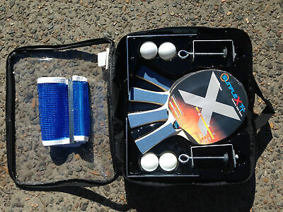 Sunflex Table Tennis Deluxe 4 Player Set with Net and Posts and 4 Balls