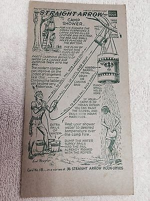 1952 Nabisco Straight Arrow Injun-Uties Card, Book 4, Card 18, of 36 series