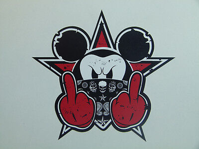 "RED NEW Skate Oldschool Sticker  "" Bad Mouse Biker ""  Aufkleber Drift OEM JDM"