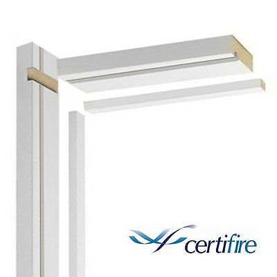 FIRE DOOR LINING SET Frame Casing Fire Rated White Primed MDF Internal FD30