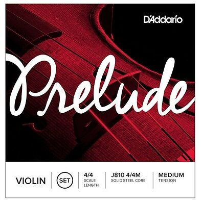 Violin Strings D'Addario J810  Prelude 4/4, 3/4, 1/2, 1/4 Available Med Tension