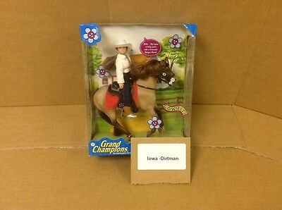 Grand Champions Classic Horse And Rider Cowgirl 50251 Vintage Horse Play Set New