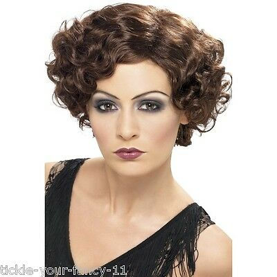 Women's Quality 20's Flapper Wig Flirty Flapper Hen Fancy Dress Curly Dancer