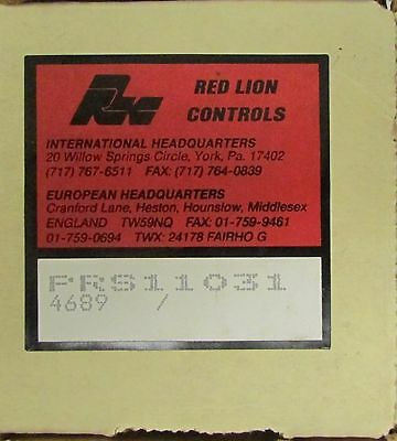 RED LION CONTROLS PRS11031 Speed Switch Control Relay 4689