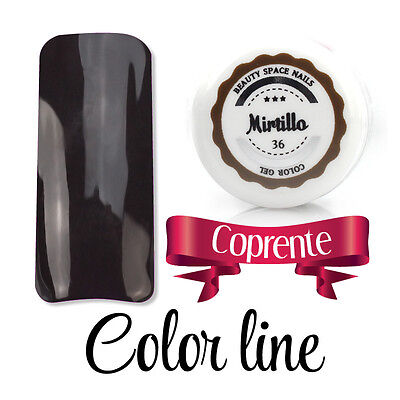 Color Line - 36 Mirtillo - glass effect - gel uv colorato 5ml