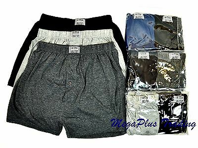 Mens Knitted Boxer Ultra Dynamic 100% Cotton Underwear Lot S M L XL 2XL 3XL