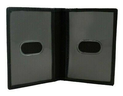 Genuine Leather Mini ID Front Pocket Bi-fold Wallet Two Window ID 3 Card Slots
