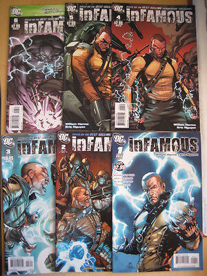INFAMOUS :COMPLETE 6 ISSU SERIES by HARMS,NGUYEN.BASED ON THE VIDEO GAME.DC.2011