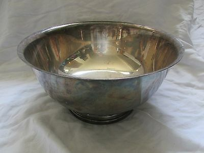 """Vintage Gorham Paul Revere Silverplate Footed Bowl/Serving Dish YC784 10""""x6"""""""