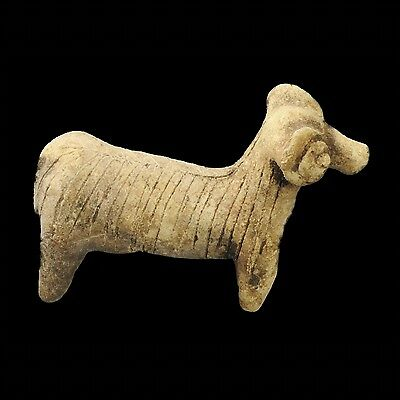 Aphrodite- Ancient Terracotta Figure Of A Ram