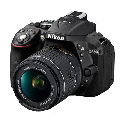 Nikon D5300 24.2 MP CMOS Digital SLR Camera w/ Nikon 18-55mm VR AF-P DX Lens