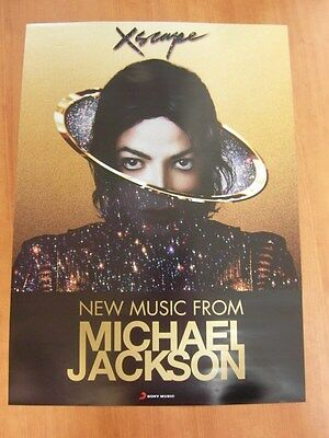 MICHAEL JACKSON - Xscape  [OFFICIAL]  Unfolded  POSTER *NEW*