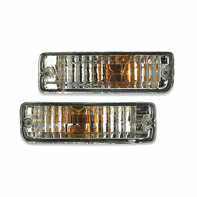 Toyota Hilux 88-97 Crystal Clear Bar Blinker Lights Pair Indicator