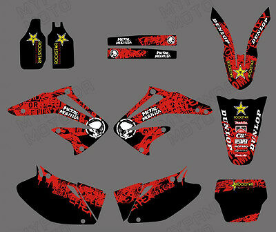 Motocross Team Graphics Kit Decals Stickers For Honda Crf450 Crf450R 2002-2004