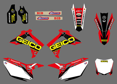 Team Graphics Decals For Honda Crf250R Crf250 2014 15 Crf450R Crf450 2013-15 D01