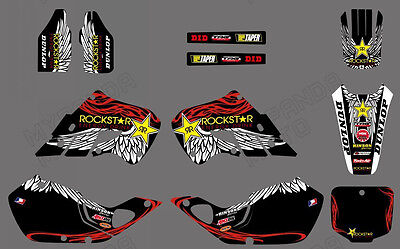 TEAM DECALS GRAPHICS For HONDA CR125 1998 1999 CR250 1997 1998 1999 D01