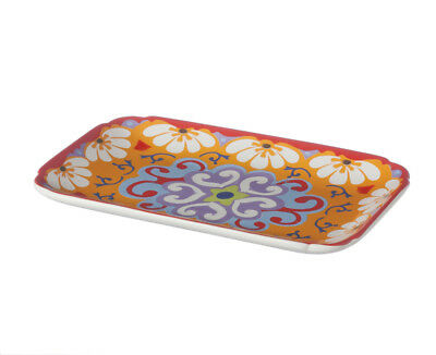 Rose & Tulipani Nador Rectangle Tray 20x13cm Stoneware Tapas Mediterranean Box