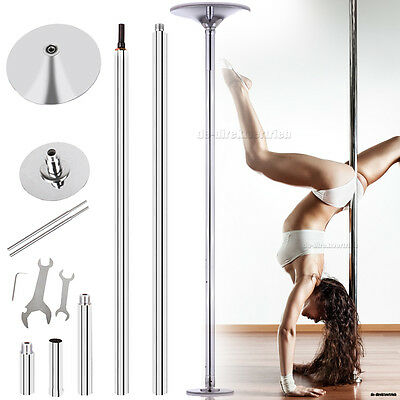 "7'4"" to 9' Pro Stripper Fitness Exercise Dance Strip Spinning Pole Danza 45mm"