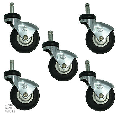 "3"" x 7/16"" x 1-1/4"" Grip Ring / Chair Institutional Stem IV Pole Casters  (5)"
