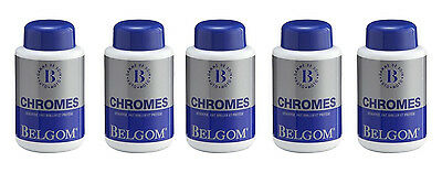 Lot de 5 x Nettoyant BELGOM chrome 250 ml MOTO/QUAD/AUTO