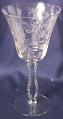Heather Crystal Set of Two Goblets Fostoria Glass Company