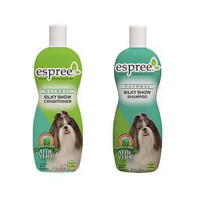 Espree Silky Show Shampoo & Conditioner Dog Wash Pet Grooming 2 Set Combo NEW