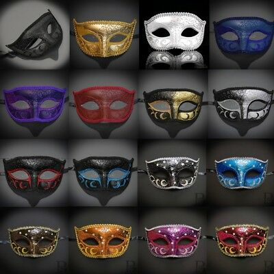 Classic Simple Mardi Gras Venetian Ball Masquerade Mask for Men M6107