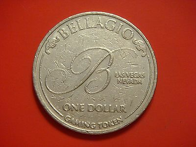 Bellagio Hotel Casino  Gaming Token Las Vegas Nevada, One Dollar