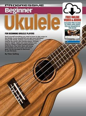 Progressive Beginner Ukulele book, Comes with 2 DVDs, CD and DVD-ROM