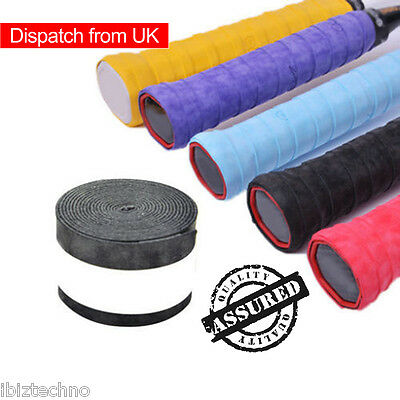 10 Pack Absorb Sweat Badminton Tennis Squash Racket Tape Grip Overgrip Sticky