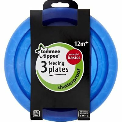 Tommee Tippee Closer to Nature Essentials Basic Plates Blue