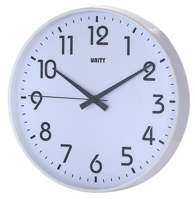 """Unity Fradley Silent Sweep Non-Ticking Wall Clock 12"""" 30Cm"""