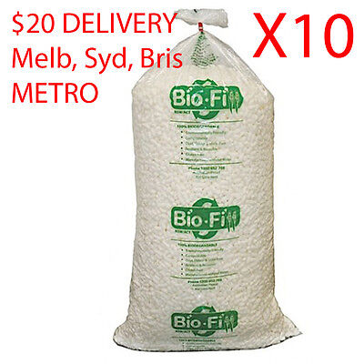 X10 400 Litre Void Bio Loose Fill Biofill Packing Peanuts Packaging Nuts Foam