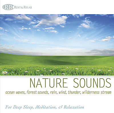 NATURE SOUNDS CD: Oceans Waves, Forest, Rain, Wind, Thunder, Water Sounds NEW!!