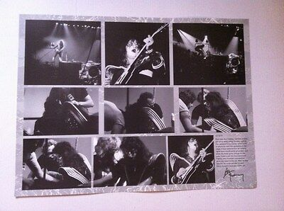 Kiss Ace Frehley 1976 Shock Me Collage Poster Lakeland,FL