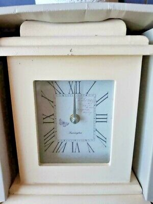 Shabby Chic Wood Mantle Clock Living Room Vintage -   colour options