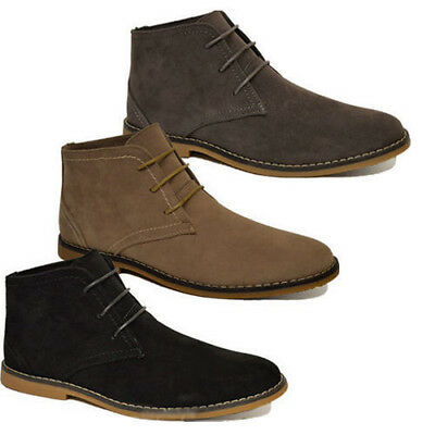 Mens Casual Lace Up Fashion Boots Ankle Desert Boots Trainers Shoes Size