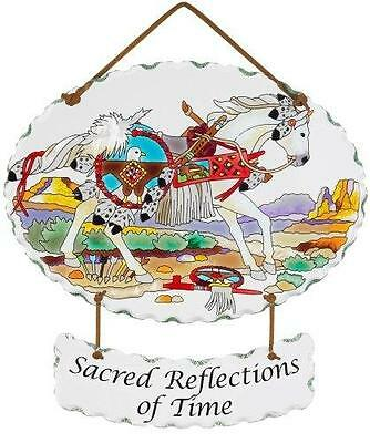 Trail Painted Ponies Sacred Reflections Time Joan Baker Glass Horse Suncatcher